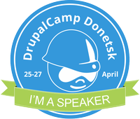 I'm a speaker at DrupalCamp Donetsk
